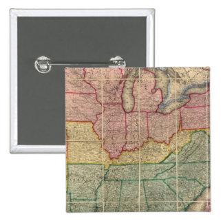 Mapa del condado de Railroadand de Colton, Estados Pin Cuadrado