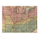 Mapa del condado de Railroadand de Colton, Estados Postales