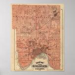 Mapa del condado de Ramsey, Minnesota Póster