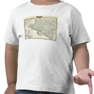 Mapa del condado de Randolph, brote rojo y de Camiseta
