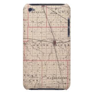 Mapa del condado de Randolph iPod Touch Case-Mate Carcasas