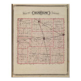 Mapa del condado de Randolph Impresiones