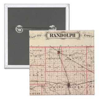 Mapa del condado de Randolph Pin