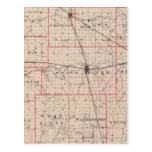 Mapa del condado de Randolph Postales