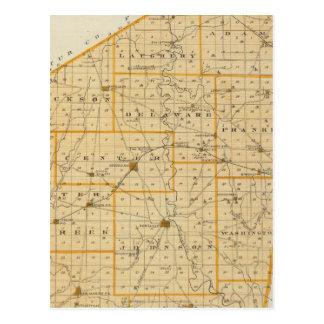 Mapa del condado de Ripley Postales