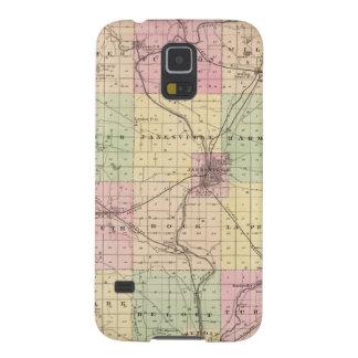 Mapa del condado de Rock, estado de Wisconsin Funda Para Galaxy S5