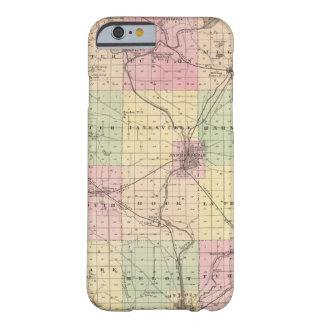 Mapa del condado de Rock, estado de Wisconsin Funda De iPhone 6 Barely There