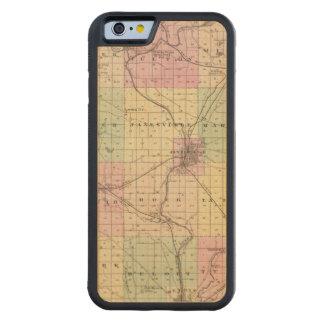 Mapa del condado de Rock, estado de Wisconsin Funda De iPhone 6 Bumper Arce