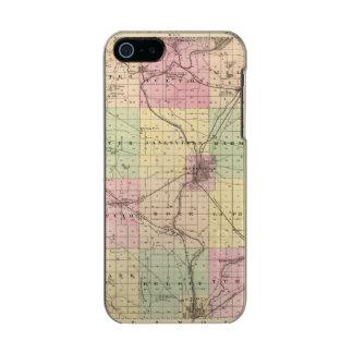 Mapa del condado de Rock, estado de Wisconsin Funda Para iPhone 5 Incipio Feather Shine