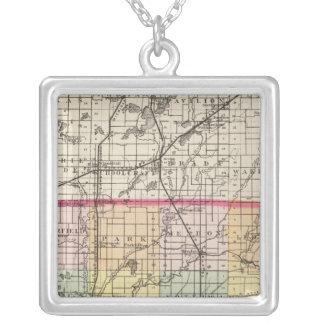 Mapa del condado de San José, Michigan Collares