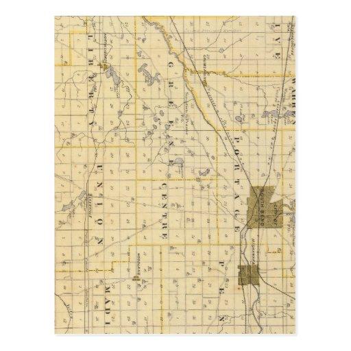 Mapa del condado de San José Tarjeta Postal