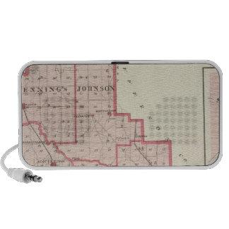 Mapa del condado de Scott con Lexington, Scottsbur iPod Altavoces