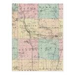 Mapa del condado de Sheboygan, estado de Wisconsin Postal