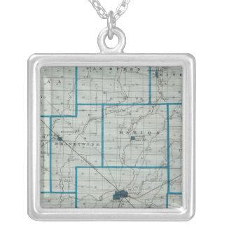 Mapa del condado de Shelby Colgantes Personalizados