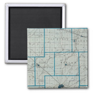 Mapa del condado de Shelby Imán De Frigorífico