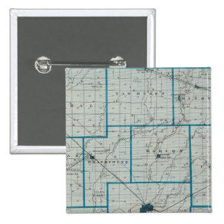 Mapa del condado de Shelby Pins
