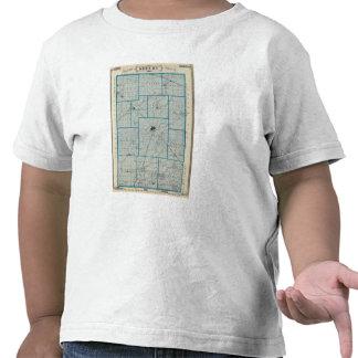 Mapa del condado de Shelby Camisetas