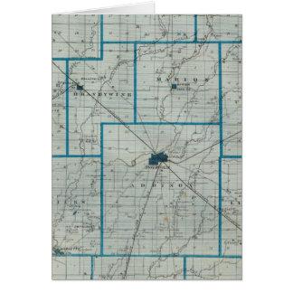 Mapa del condado de Shelby Felicitacion
