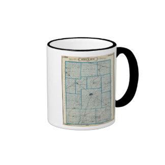 Mapa del condado de Shelby Taza De Café