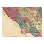 Mapa del condado de Sonoma California Tarjetas Postales