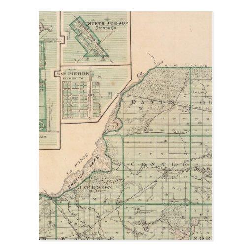 Mapa del condado de Starke con Knox Postales