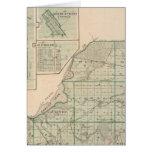 Mapa del condado de Starke con Knox Tarjeta De Felicitación