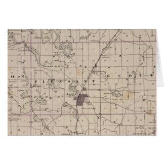 Mapa del condado de Steuben Indiana Tarjeta De Felicitación