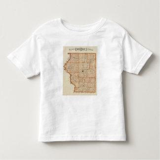 Mapa del condado de Sullivan Camiseta