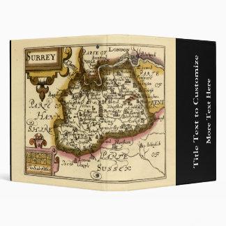 """Mapa del condado de Surrey, Inglaterra Carpeta 1"""""""