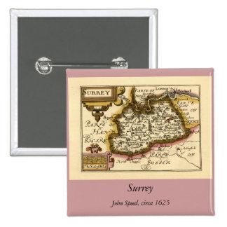 Mapa del condado de Surrey Inglaterra Pin