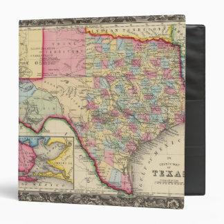 """Mapa del condado de Tejas Carpeta 1 1/2"""""""