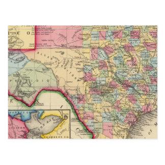 Mapa del condado de Tejas Postales