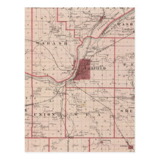 Mapa del condado de Tippecanoe Postales