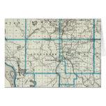 Mapa del condado de Union Tarjeta De Felicitación