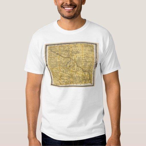 Mapa del condado de Van Buren, estado de Iowa Camisas