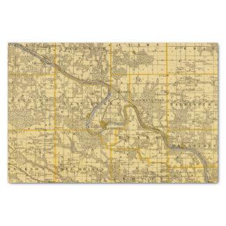 Mapa del condado de Van Buren, estado de Iowa Papel De Seda Pequeño