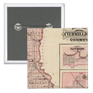 Mapa del condado de Vermillion con Newport Pin