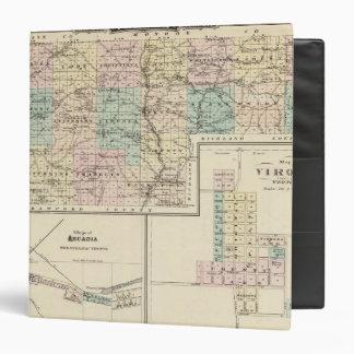 """Mapa del condado de Vernon, Arcadia y de Viroqua Carpeta 1 1/2"""""""