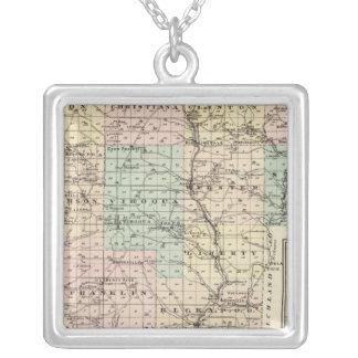 Mapa del condado de Vernon, Arcadia y de Viroqua Colgante Cuadrado