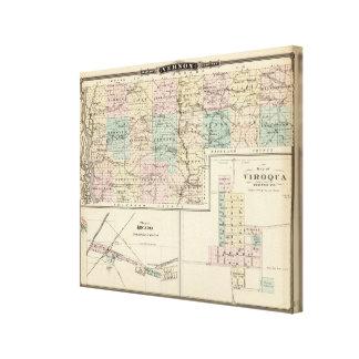 Mapa del condado de Vernon, Arcadia y de Viroqua Impresión En Lona Estirada