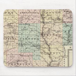 Mapa del condado de Vernon, Arcadia y de Viroqua Mouse Pads
