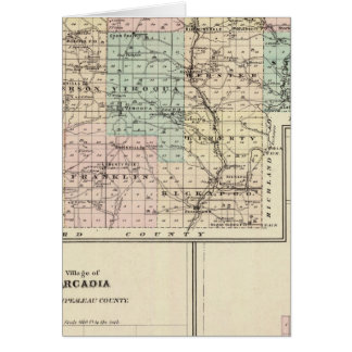 Mapa del condado de Vernon, Arcadia y de Viroqua Tarjeta De Felicitación
