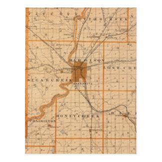 Mapa del condado de Vigo Tarjeta Postal