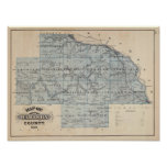 Mapa del condado de Wabasha, Minnesota Impresiones