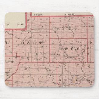 Mapa del condado de Warrick Alfombrillas De Ratón