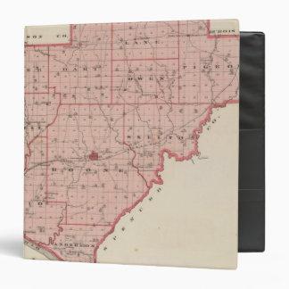 "Mapa del condado de Warrick Carpeta 1 1/2"""