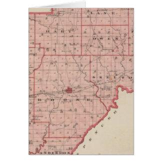 Mapa del condado de Warrick Tarjeta De Felicitación