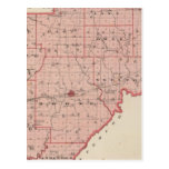 Mapa del condado de Warrick Tarjeta Postal