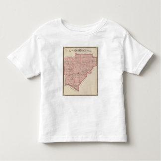 Mapa del condado de Warrick Tshirts