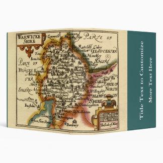 """Mapa del condado de """"Warwickeshire"""" Warwickshire Carpeta 1 1/2"""""""